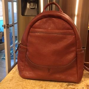 Leather Frye back pack
